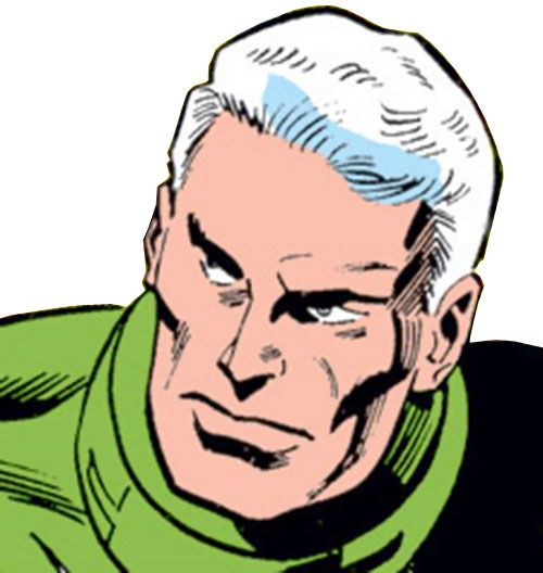 Captain Mar-Vell (Marvel Comics) early face closeup