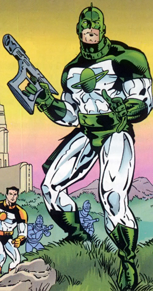 Captain Mar-Vell (Marvel Comics) in his green Kree uniform