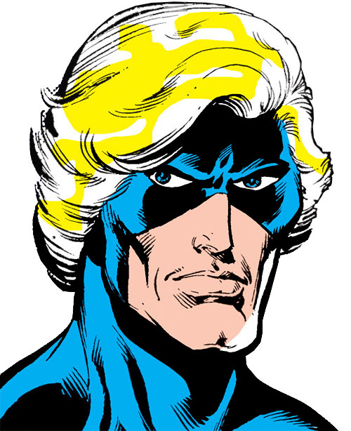 Captain Mar-Vell (Marvel Comics) Starlin face closeup
