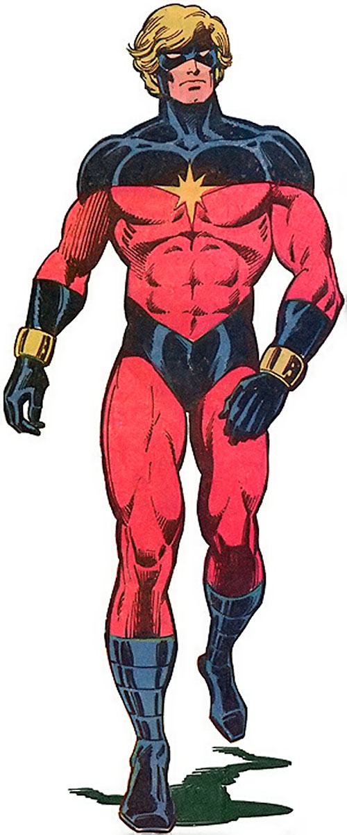 Captain Mar-Vell (Marvel Comics) power walking