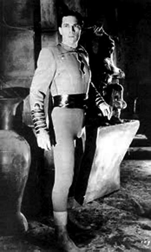 Captain Marvel (1941 Republic serial) - Tom Tyler in a tomb
