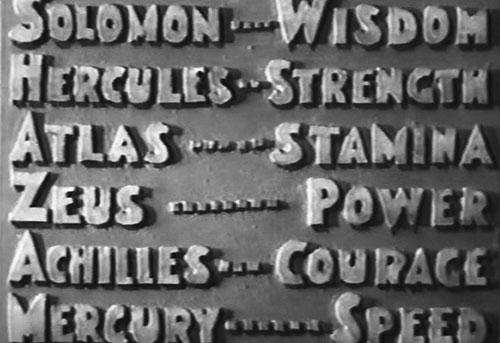 Captain Marvel (1941 Republic serial) Shazam power chart