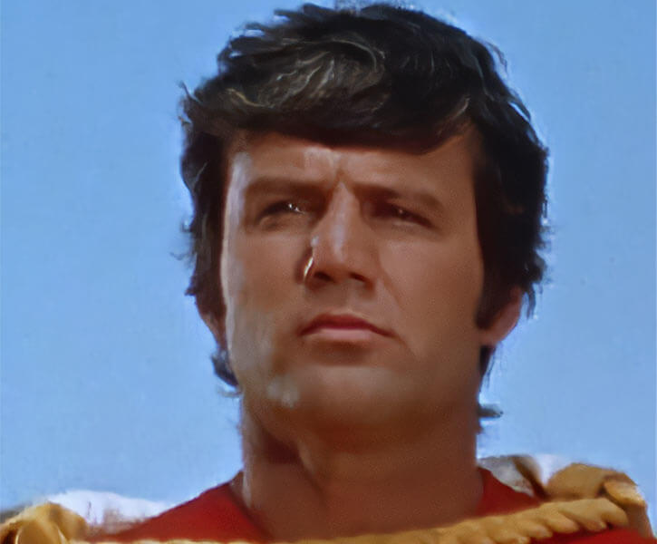 Captain Marvel Shazam live action 1970s series - John Davey as Captain Marvel
