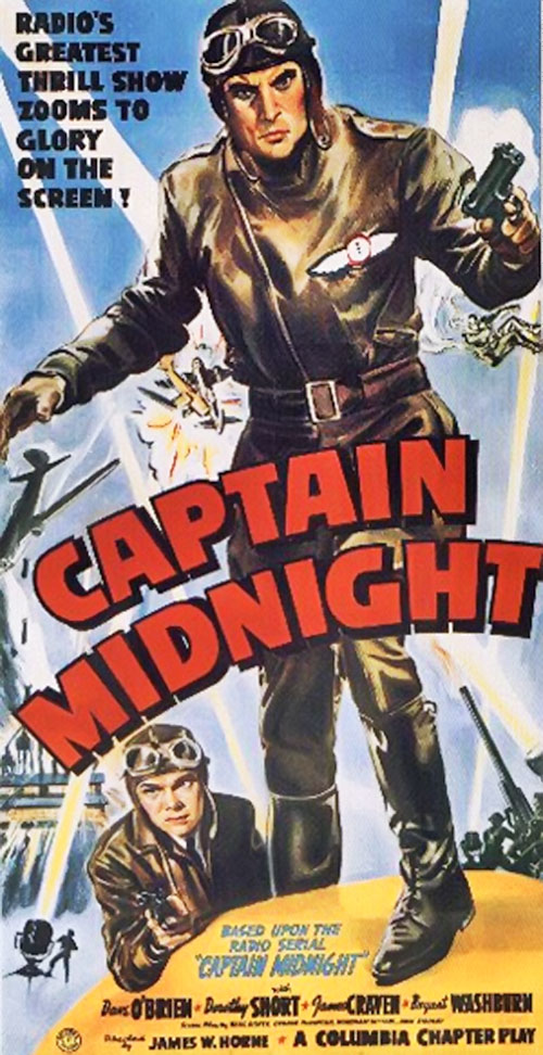 Captain Midnight color movie poster