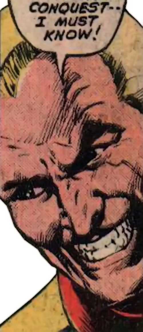 Captain Nazi (Captain Marvel enemy) (1970s DC Comics) grinning face closeup