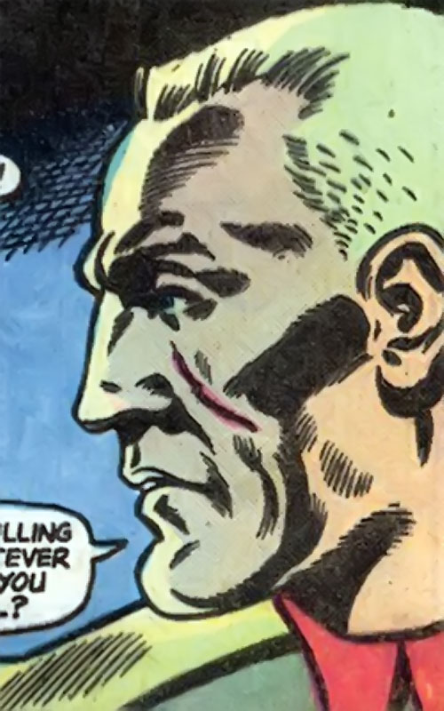 Captain Nazi (Captain Marvel enemy) (1970s DC Comics) face closeup side view