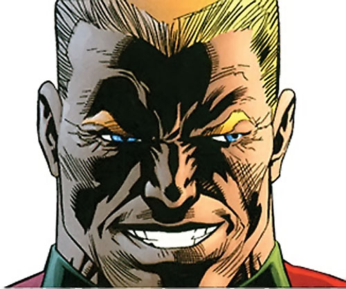 Captain Nazi (JSA / Captain Marvel enemy) (DC Comics) grinning face closeup