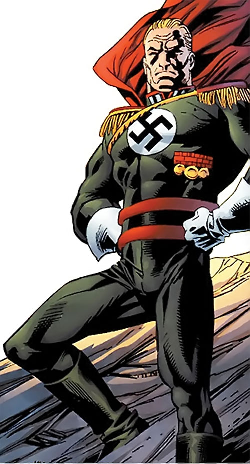 Captain Nazi (JSA / Captain Marvel enemy) (DC Comics) in the dark green uniform