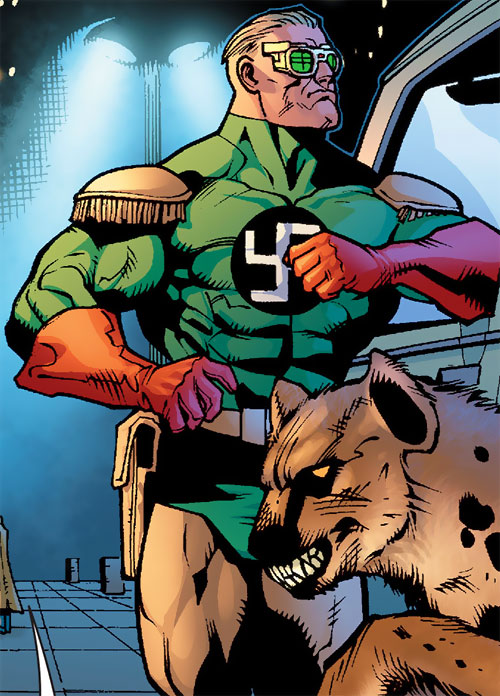 Captain Nazi (JSA / Captain Marvel enemy) (DC Comics) and the Hyena