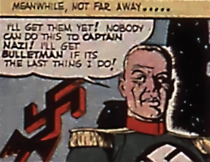 Captain Nazi (1940s)'s face