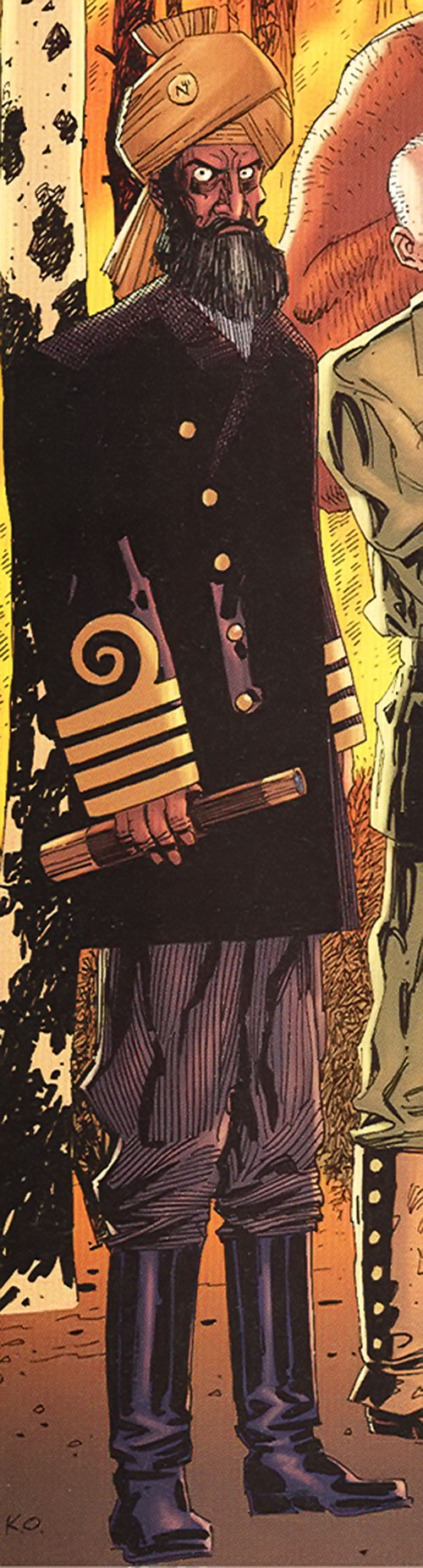 Captain Nemo (League of Extraordinary Gentlemen) with an insane stare