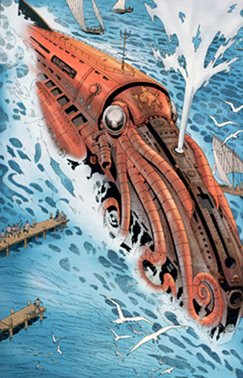 Captain Nemo (League of Extraordinary Gentlemen) near the shore