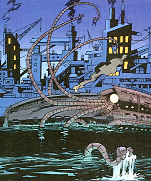 Captain Nemo (League of Extraordinary Gentlemen)'s Nautilus attacking with its tentacles