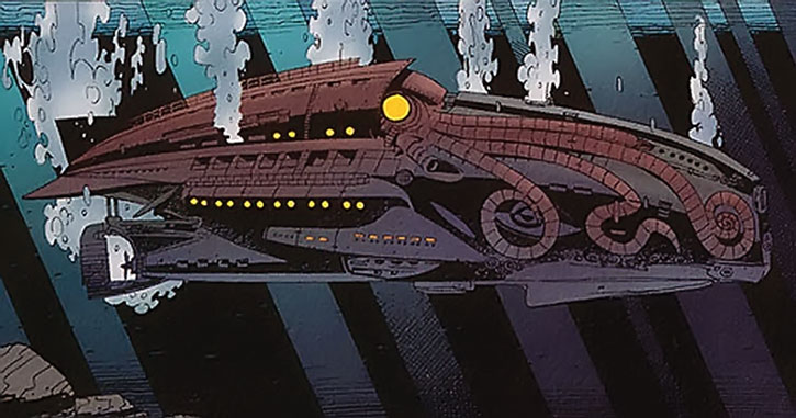 Captain Nemo's Nautilus in League of Extraordinary Gentlemen