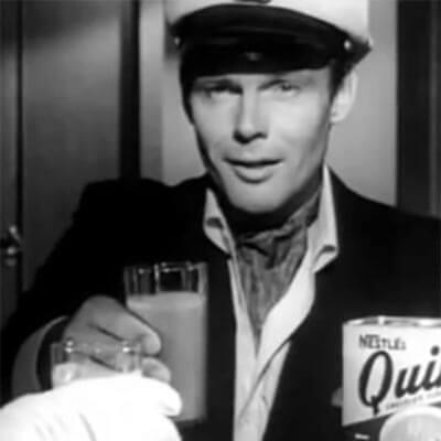 Captain Q (Adam West Quik commercial) chocolate milk
