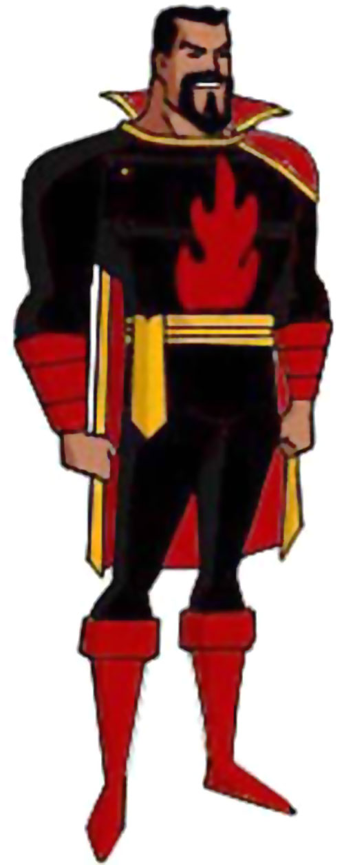 Captain Terror (Evil Captain Marvel) in a cartoon style