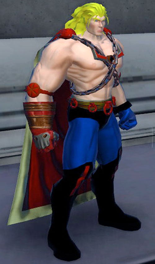 Captain Thunder (DC Heroes RPG) side view