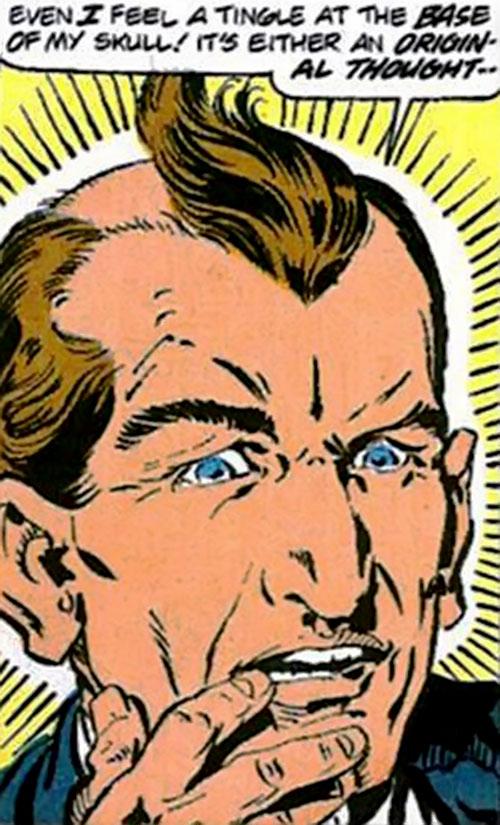Captain Ultra (Marvel Comics) face closeup