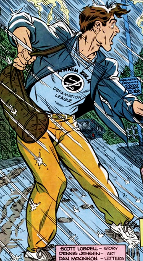 Captain Ultra (Marvel Comics) out of costume