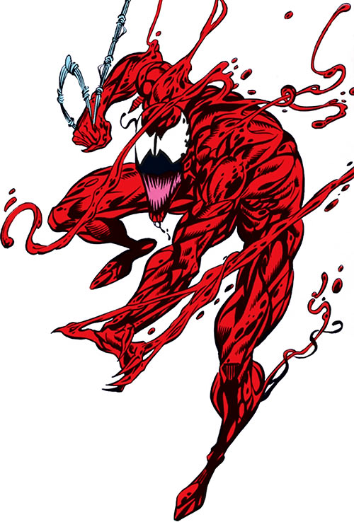 Carnage (Spider-Man) (Marvel Comics) with trailing tendrils