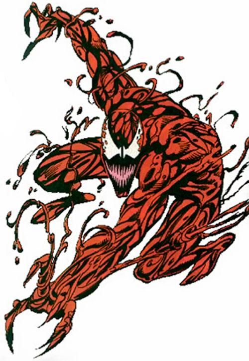 Carnage (Spider-Man) (Marvel Comics) spider-crouching