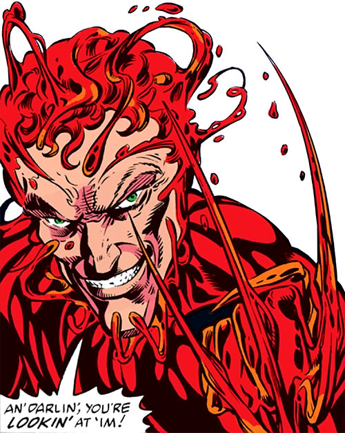 Carnage (Spider-Man) (Marvel Comics) unmasked face