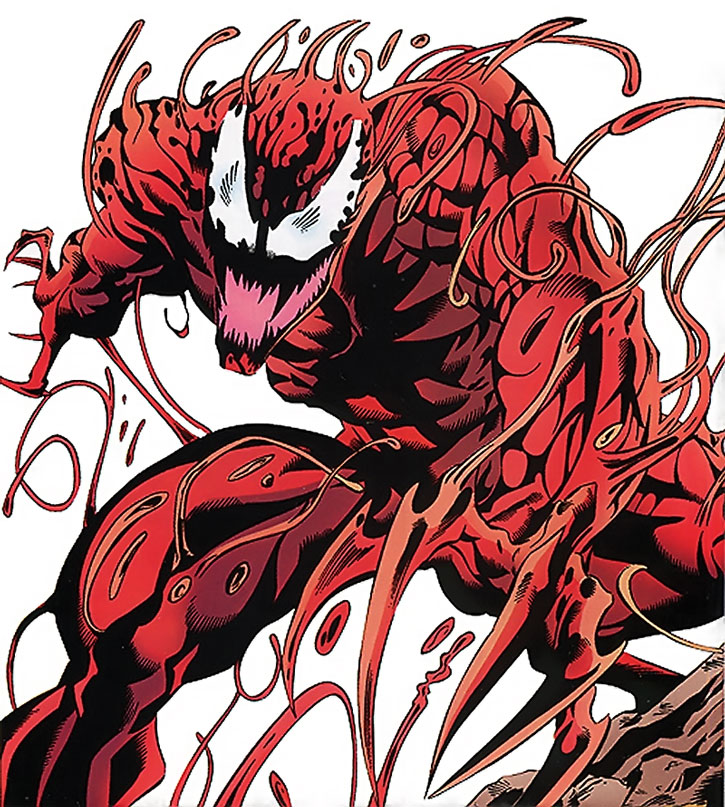 Carnage looking menacing