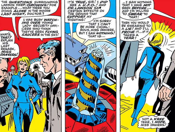 Carol Danvers before Ms. Marvel comics and Doctor Lawson