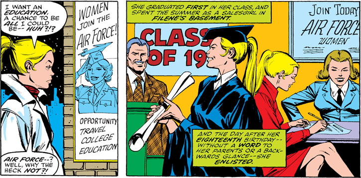 Flashback to Carol Danvers' youth