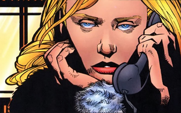 Early Carol Danvers on the phone