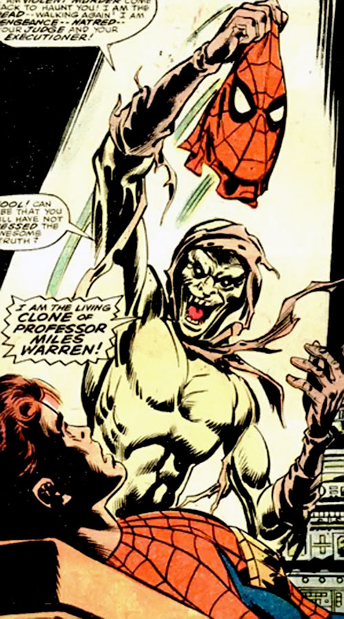 Carrion (Marvel Comics) unmasks Spider-Man