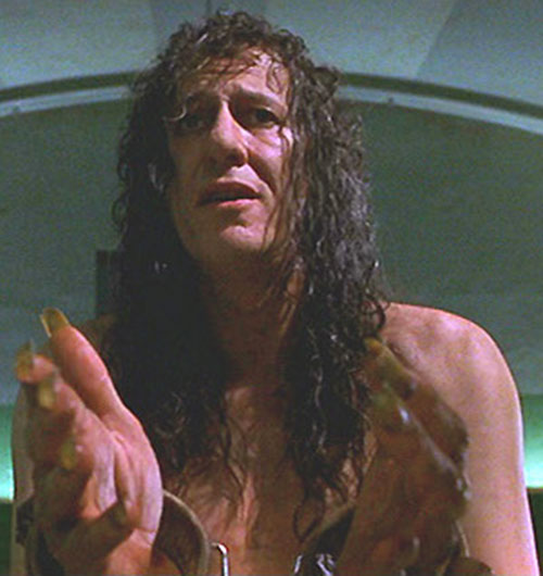 Casanova Frankenstein (Geoffrey Rush in Mystery Men) as a prisoner