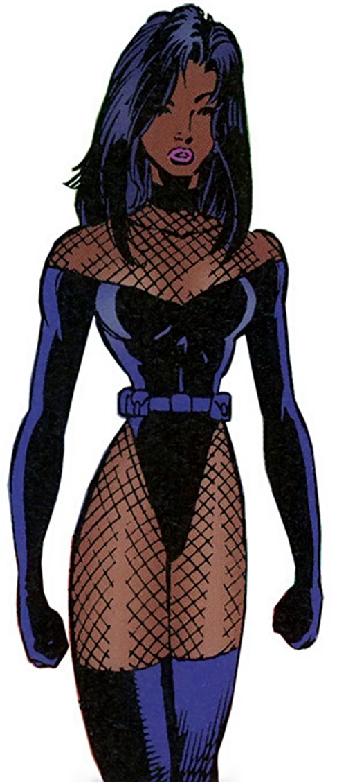 Cascade of the Sovereign 7 (DC Comics) in a leotard