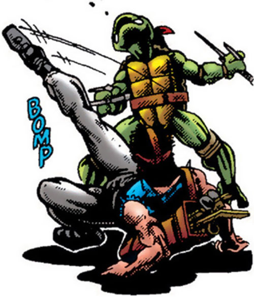Casey Jones of the Teenage Mutant Ninja Turtles (TMNT comics) vs. Raphael