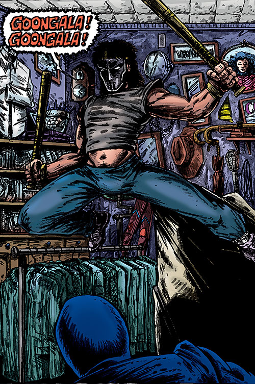 Casey Jones of the Teenage Mutant Ninja Turtles (TMNT comics) goongala goongala