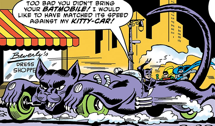 Cat King (DC Comics) (Batman / Catwoman) in his Kitty Car