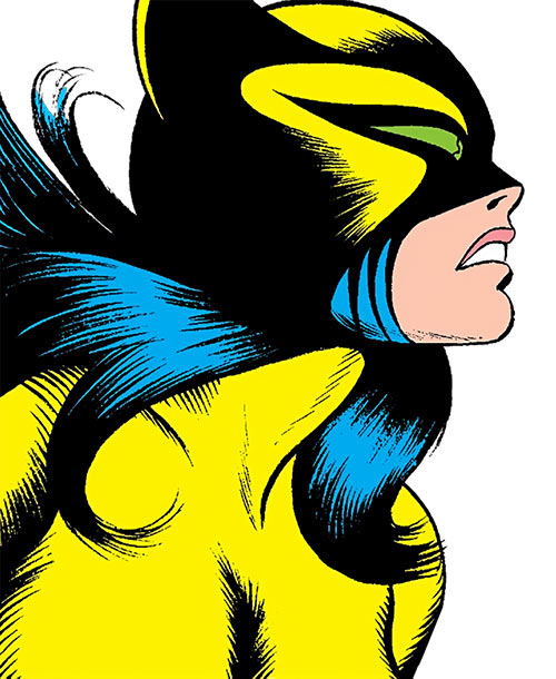 The Cat (Greer Nelson) (Marvel Comics) face closeup, side view