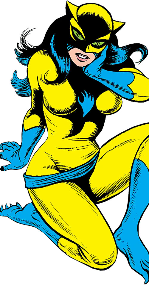 The Cat (Greer Nelson) (Marvel Comics) sitting