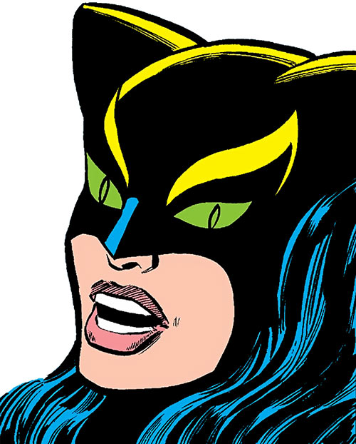 The Cat (Greer Nelson) (Marvel Comics) face closeup, shouting