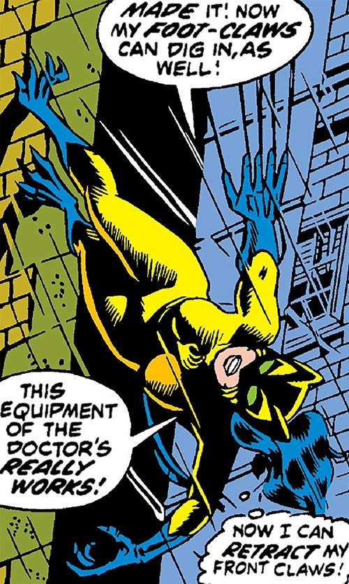 The Cat (Greer Nelson) (Marvel Comics) climbs up a wall