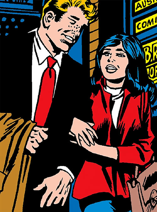 Greer Nelson (Marvel Comics) as an undergraduate student with her husband