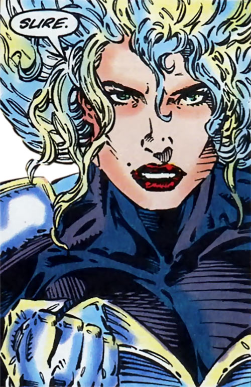 Cat of the Gene Dogs (Marvel Comics UK) face closeup