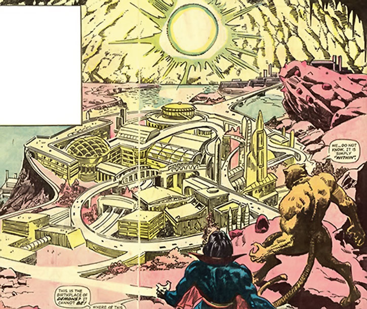 A general view of the Land Within as seen by Morbius