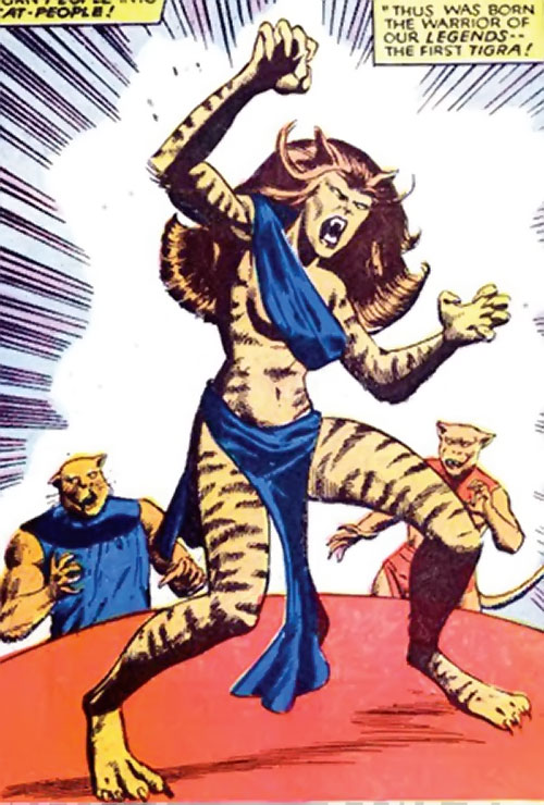 Cat People king (Tigra species) (Marvel Comics) the original Tigra