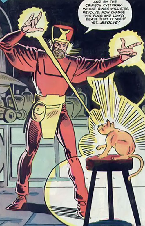 Cat People king (Tigra species) (Marvel Comics) Ebrok casts his great spell