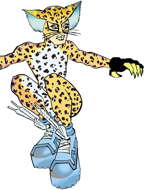 Catgirl (Dark Knight Strikes Again) (DC Comics) with sneakers and leopard costume