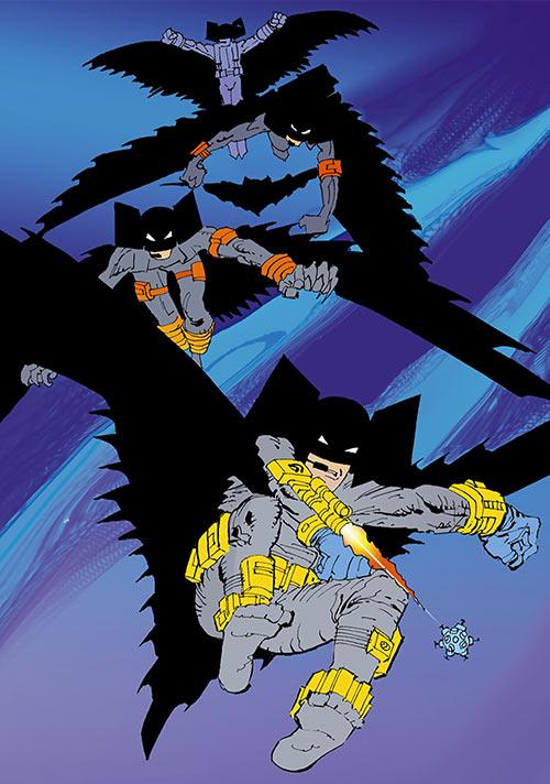 Flying Batboys attacking (Dark Knight Strikes Again) (DC Comics)