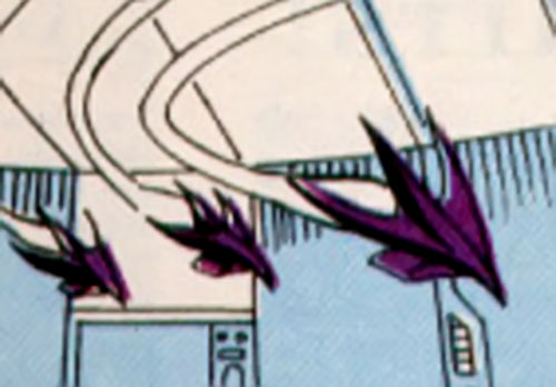 Cathode (Silver Sable enemy) (Marvel Comics) drone mini-planes