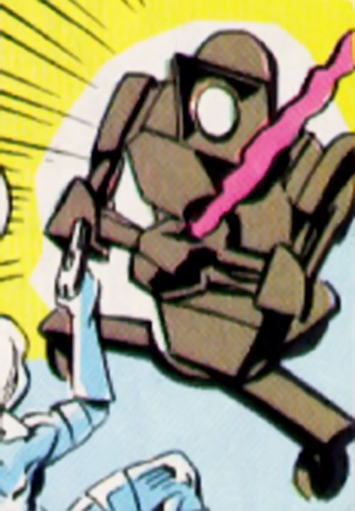 Cathode (Silver Sable enemy) (Marvel Comics) droid with a laser sword
