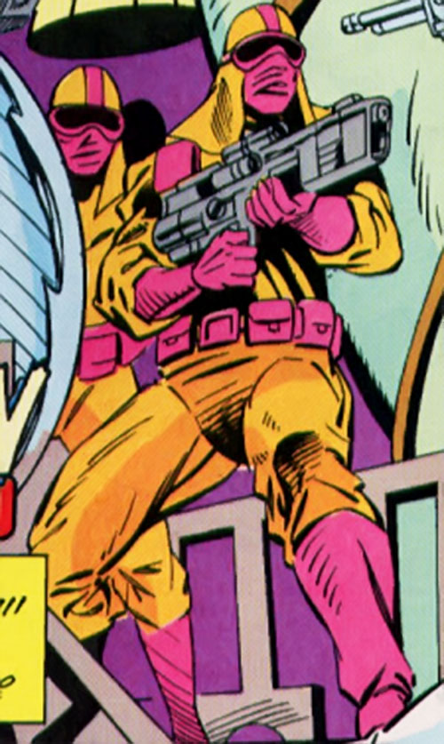 Cathode (Silver Sable enemy) (Marvel Comics) guards